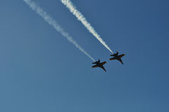 Two Blue Angels Royalty Free Stock Photo