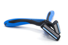 Two blue and black shavers Royalty Free Stock Images