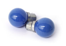 Two blue bulbs Stock Photos