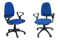 Two blue chair computer Stock Photography