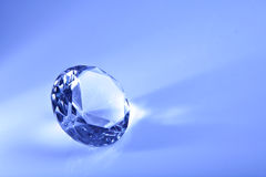 Two  blue  diamond with copy space Backgound Stock Images