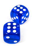 Two Blue Dice Royalty Free Stock Image