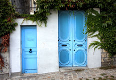 Two blue doors Royalty Free Stock Photos
