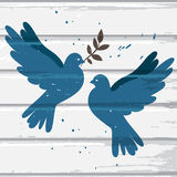 Two blue doves Stock Images