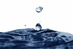 Free Two Blue Drops Stock Photography - 4277142