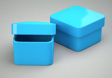 Two blue empty boxes Royalty Free Stock Images