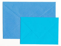 Two Blue Envelopes Stock Images