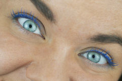 Two Blue Eyes Royalty Free Stock Image