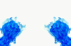 Two blue fire flames fist Stock Image