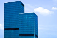 Two blue glass business skyscraper towers Stock Image