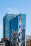 Two Blue Glass Office Towers in Chicago Stock Photography