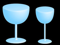 Two blue glasses Royalty Free Stock Photo