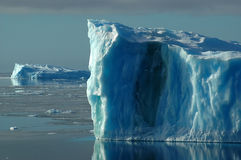Two blue icebergs royalty free stock images