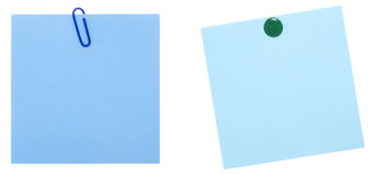 Two blue note sheets Stock Image