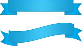 Two Blue Ribbon Banners. Backgrounds to place text over Stock Photography