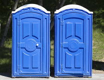 Two blue toilet in the Park Royalty Free Stock Photo