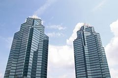 Two Blue Towers Royalty Free Stock Photo