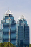 Two Blue Towers Royalty Free Stock Photos