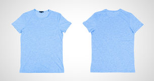 Two blue tshirt Royalty Free Stock Images