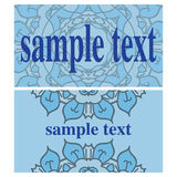Two blue vector cards Royalty Free Stock Photo