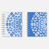 Two blue and white notebook covers design Royalty Free Stock Photography