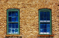 Two Blue Windows Royalty Free Stock Photos