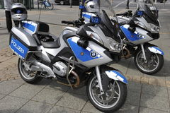 Two BMW Police Motorbikes Royalty Free Stock Image