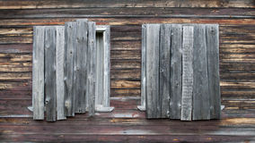 Two boarded windows Stock Photography