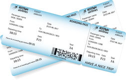 Two boarding pass tickets Stock Photography
