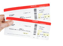Two boarding passes Royalty Free Stock Image
