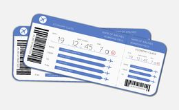 Two boarding passes Stock Photography