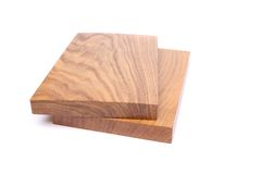 Two boards (acacia, oak). On a white background Royalty Free Stock Photography