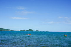 Two boat fishing in the sea Royalty Free Stock Images