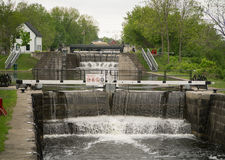 Two Boat Locks on Rideau Canal Royalty Free Stock Image