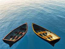 Two boats Royalty Free Stock Photos