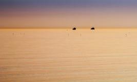 Two boats at anchor Royalty Free Stock Photo