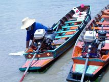 Two boats in Bangkok Stock Photo