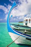 Two boats at the beach Stock Image