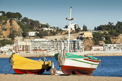 Two boats in Blanes Royalty Free Stock Images
