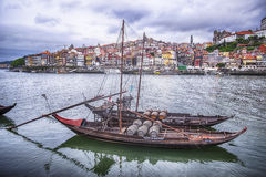Two Boats On The Douro River royalty free stock photo