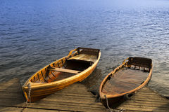 Two boats on the lake Royalty Free Stock Photo
