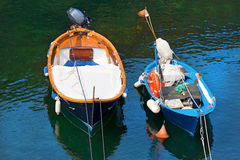 Two Boats in Liguria Italy Stock Image