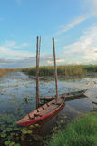 Two boats on marsh Royalty Free Stock Images