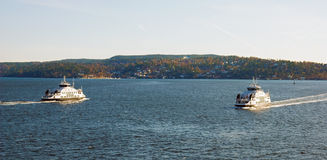 Two boats. Norway Royalty Free Stock Photo