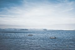 Two Boats in Ocean Royalty Free Stock Images