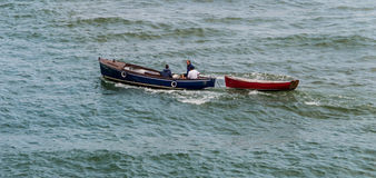 Two boats in the ocean Royalty Free Stock Photography