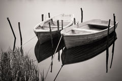 Two boats on the river Royalty Free Stock Images