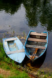 Two boats. On the river bank royalty free stock images
