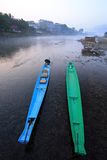 Two boats in a river Royalty Free Stock Photography