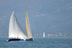 Two boats sailing during Centomiglia 2012 Stock Image